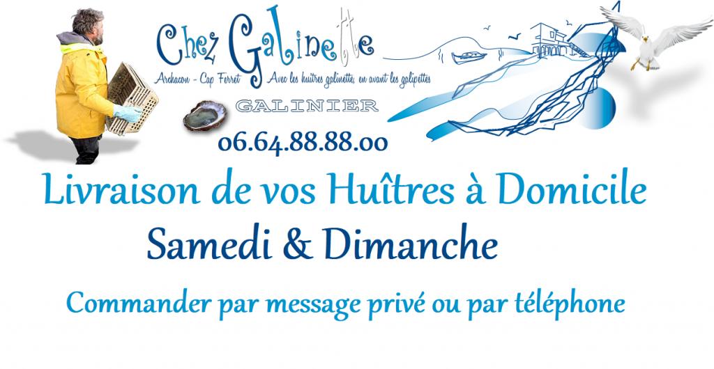 Les huîtres Galinette