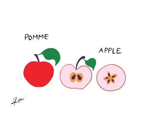 Pomme Henry Rose faniPhabet